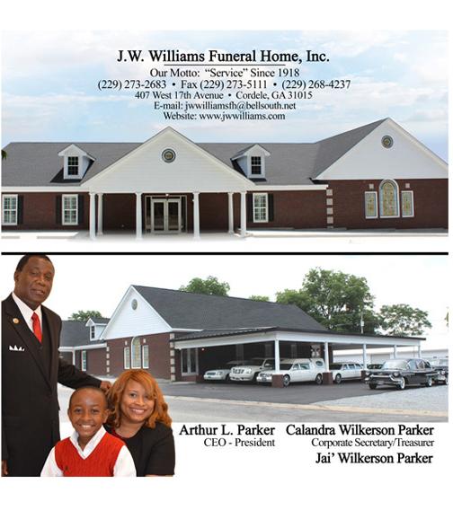 Recent Obituaries J W Williams Funeral Home Inc